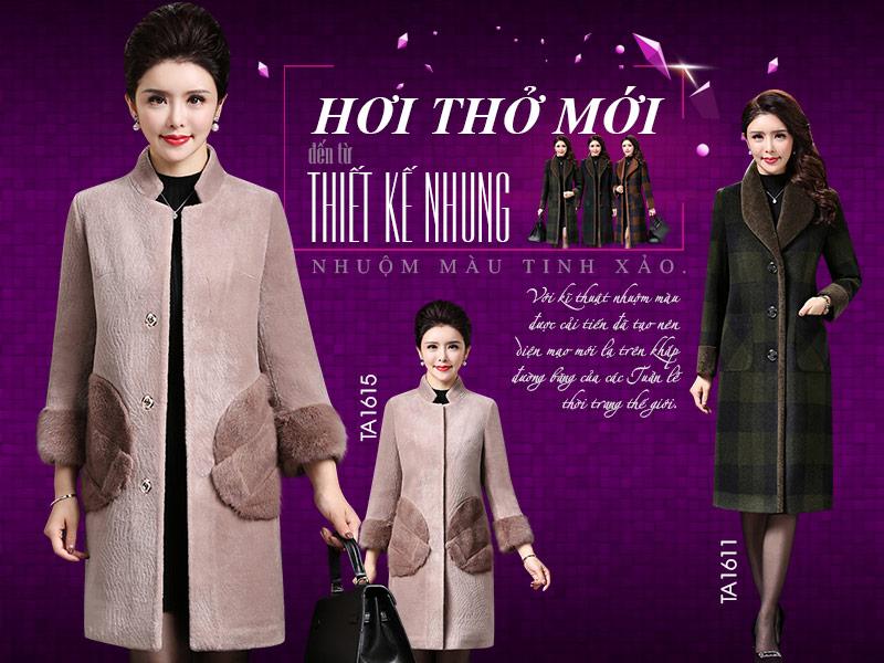 BST các mẫu áo khoác nhung hàng hiệu cao cấp cho nữ trung niên