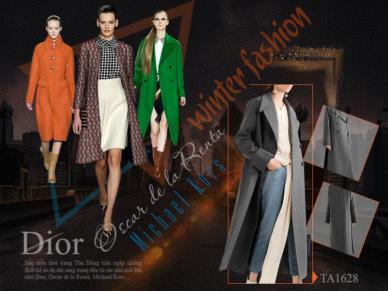 Sàn diễn thời trang Thu Đông tràn ngập những thiết kế áo dạ dài sang trọng