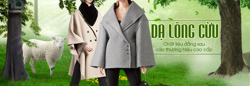 chất liệu dạ ép lông cừu được Lury chọn lọc để làm áo choàng dạ