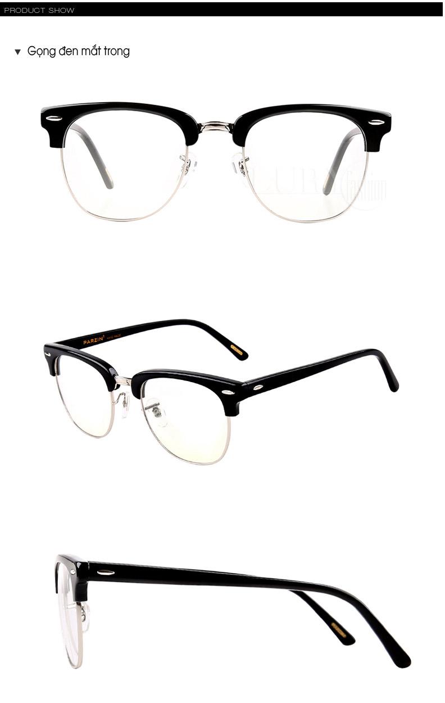 Kính nam thời trang mắt kính trong