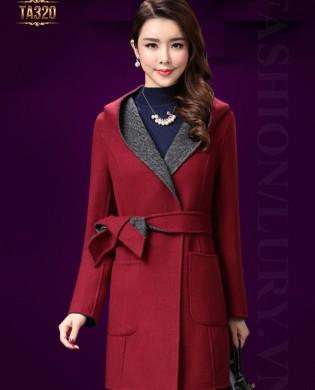 Áo khoác dạ Hàn Quốc cao cấp kèm mũ TA320