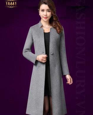 Áo khoác dạ váy cao cấp 1 cúc cổ xẻ thời trang TA441