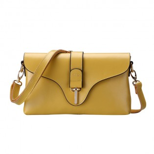 Túi xách nữ da thât thời trang màu vàng TU1506
