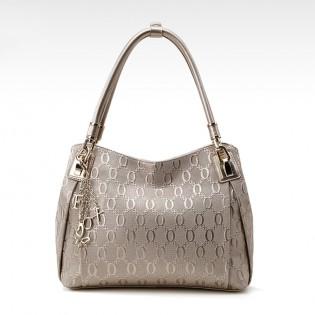 Túi xách nữ vân chữ nổi sang trọng kèm dây móc thời trang TU1507