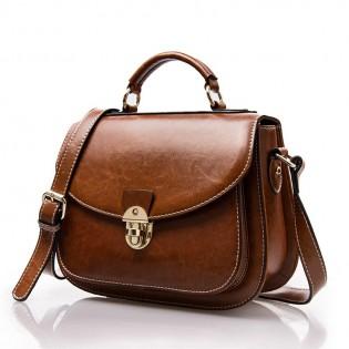 Túi đeo chéo dáng vintage nắp khóa cài cao cấp TU1548