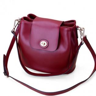Túi đeo chéo da pu cao cấp 3 ngăn nắp khóa cài thời trang TU1547