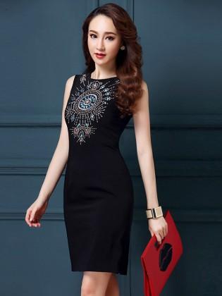 Đầm body xẻ tà Hàn Quốc quyến rũ