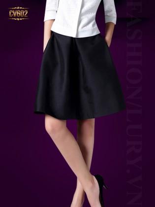 Chân váy đen Hàn Quốc cao cấp CV602