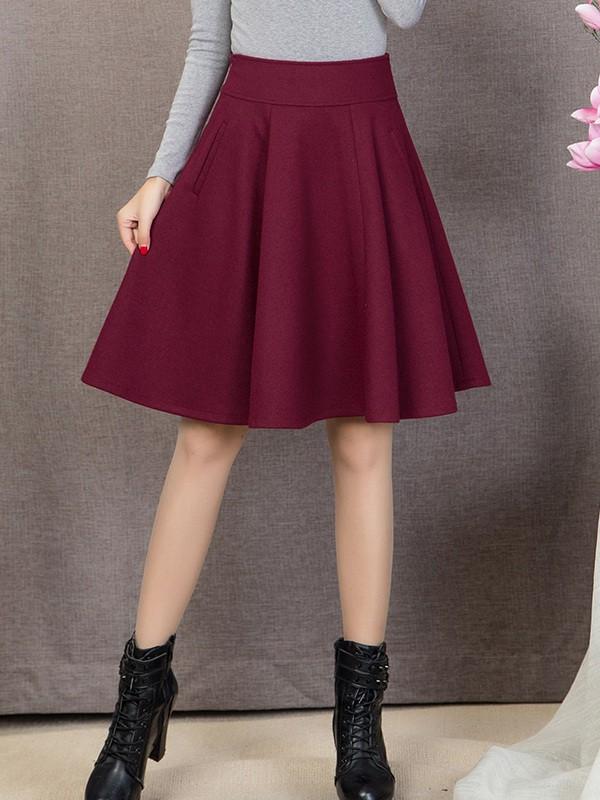 Váy xòe màu đỏ tay phối lưới 🎍 Chất... - Đầm đi chơi đơn ...