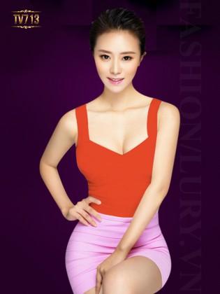 Áo cúp ngực hai dây dáng dài thời trang TV713 (Màu đỏ)