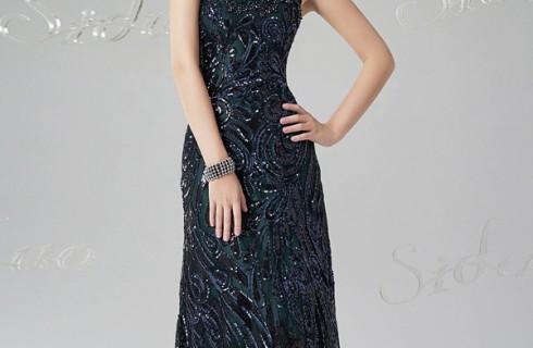 Đầm dạ hội đính đá hàn quốc cực sang trọng và chất