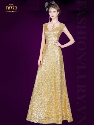 Đầm dạ hội ánh kim thiết kế quý phái TV773