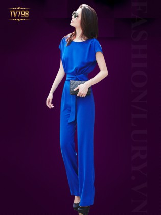 Jumpsuit hồng dáng dài quyến rũ TV798 (Màu xanh)