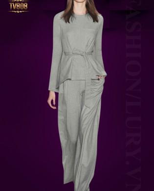 Set bộ áo dài tay, quần culottes Hàn Quốc cao cấp TV808