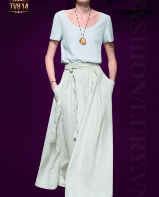 Set áo trơn quần culottes Hàn Quốc 2 túi thiết kế thời trang TV814