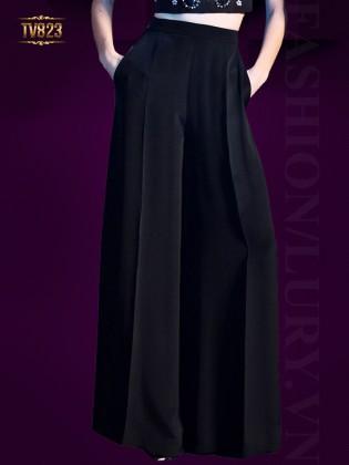 Quần culottes Hàn Quốc cao cấp dáng dài màu đen thời trang TV823