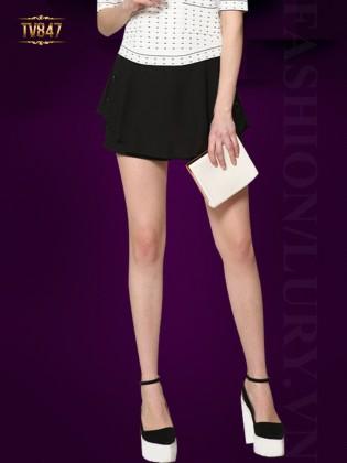 Quần short giả váy Hàn Quốc thời trang TV847 (Màu đen)