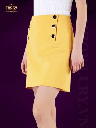 Chân váy Hàn Quốc cao cấp 6 khuy thời trang TV852 (Màu vàng)