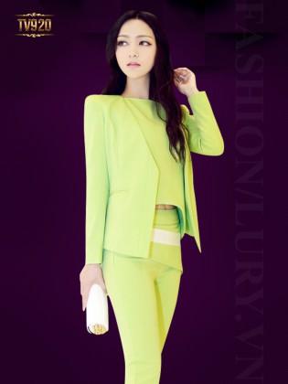 Set bộ thiết kế áo vest không cổ + áo ngắn sát nách+ quần âu dài thời trang TV920