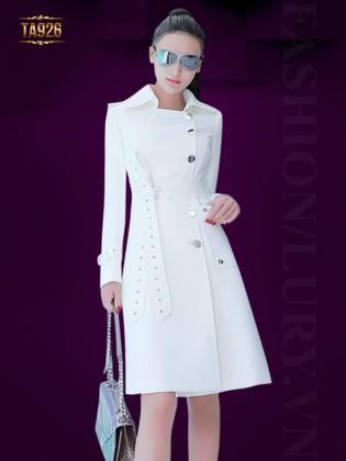 Áo khoác trắng dáng dài 3 cúc cao cấp TA926