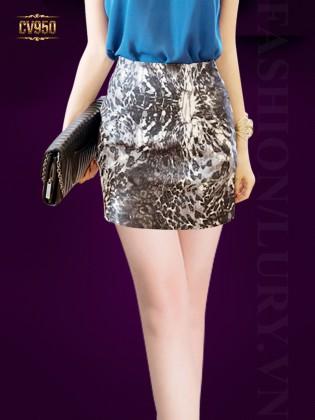 Chân váy mini họa tiết thời trang CV950