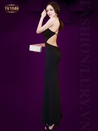 Đầm đen body lệch vai quyến rũ TV1049