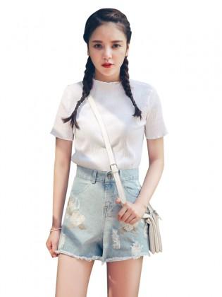 Quần short jean thêu hoa thời trang TQ1164