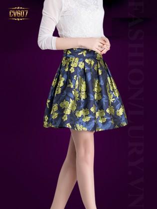 Chân váy hoa Hàn Quốc cao cấp CV607