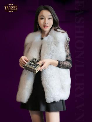 Áo khoác lông ghi-lê Hàn Quốc nhập khẩu cao cấp TA1222 (Màu khói)