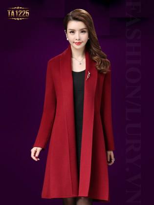 Áo khoác dạ trung niên cổ ve lật thanh lịch TA1225 ( Màu đỏ)