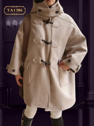 Áo khoác HQ oversize dáng dài khuy móc thời trang TA1286