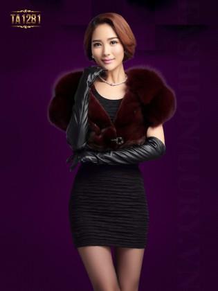 Khăn choàng lông Hàn Quốc dáng lửng thời trang TA1281