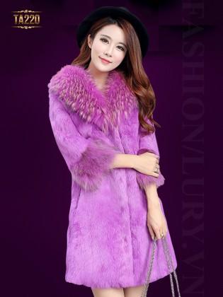 Áo khoác lông thỏ cao cấp TA220