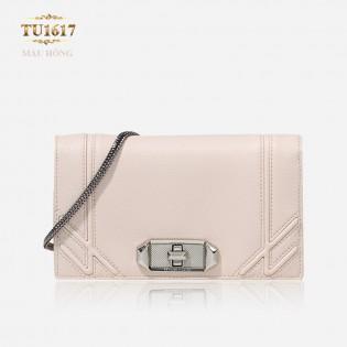 Túi xách CHARLES&KEITH dáng Chanel màu hồng cao cấp TU1617