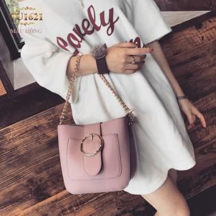 Túi xách đeo một dây xích thời trang TU1621 (Màu hồng)