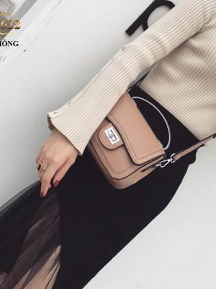 Túi xách đeo viền đính kim loại thời trang TU1622 (Màu hồng)