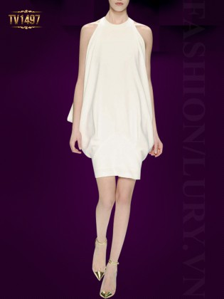 Đầm trắng sát nách thiết kế cổ tròn thời trang TV1497