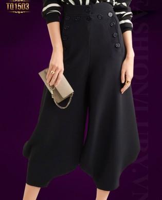 Quần suông bo gấu khuy túi trước thời trang TQ1503