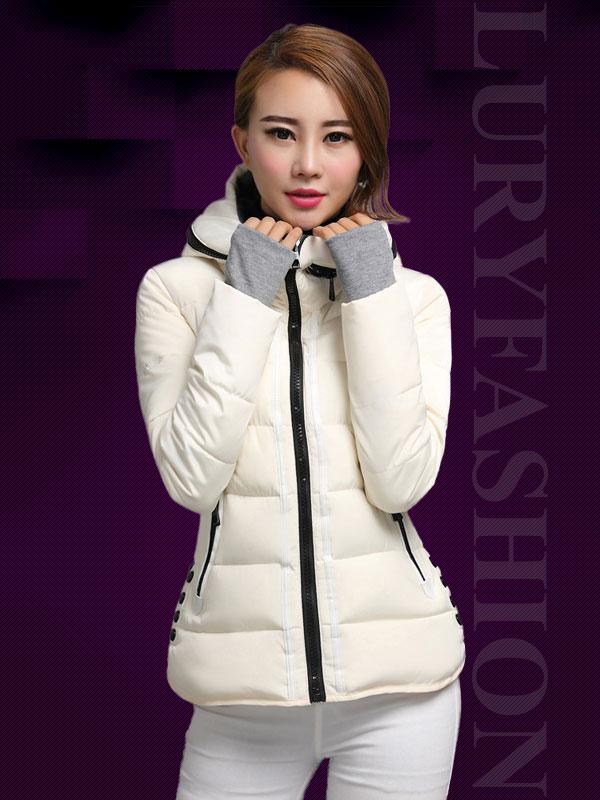 Áo phao nữ Hàn Quốc dáng ngắn phối khuy bấm độc đáo TA107