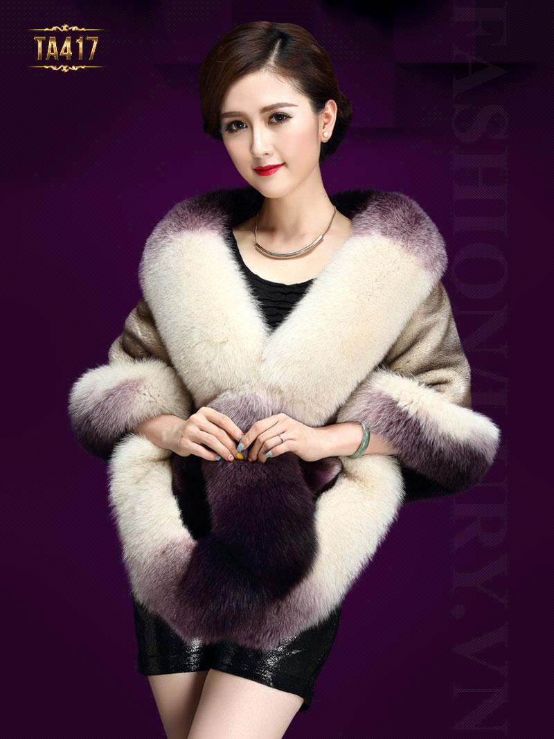 Áo choàng lông chồn thể hiện đẳng cấp phái đẹp