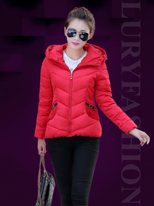 Áo phao nữ Hàn Quốc dáng ngắn mũ phối len độc đáo TA106