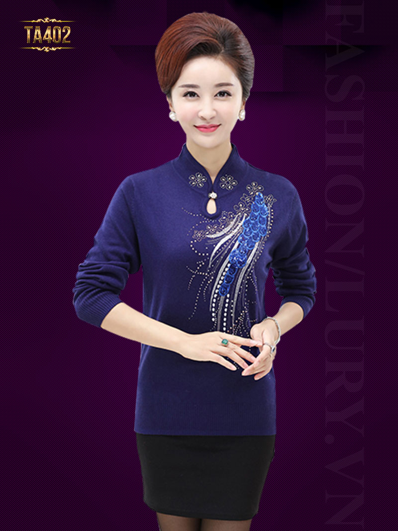 Thời trang áo len trung niên mới nhất 2018