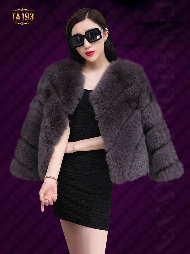 Áo khoác lông chồn nhập khẩu cao cấp  TA193