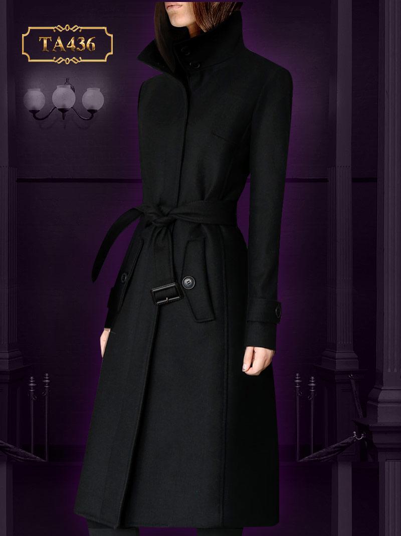 Áo khoác dạ váy cổ cao cao cấp TA436 mới 2019