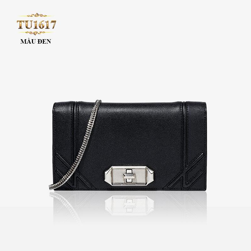 Túi xách CHARLES&KEITH dáng Chanel màu đen cao cấp TU1617