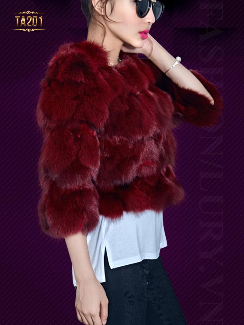 Áo lông chồn cao cấp nhập khẩu TA201