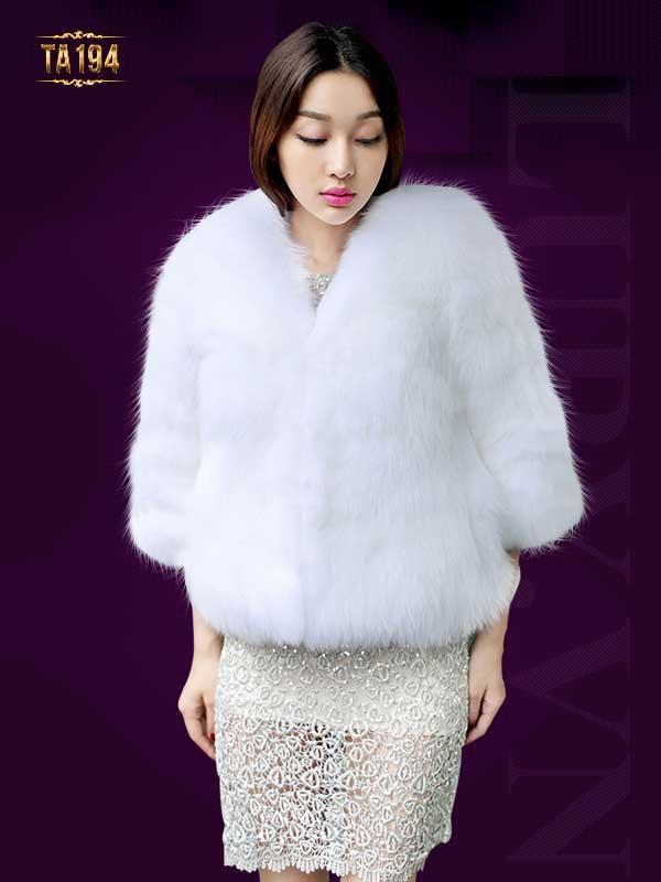 Thời trang áo khoác lông chồn nhập khẩu nguyên chiếc xứng tầm đẳng cấp TA194