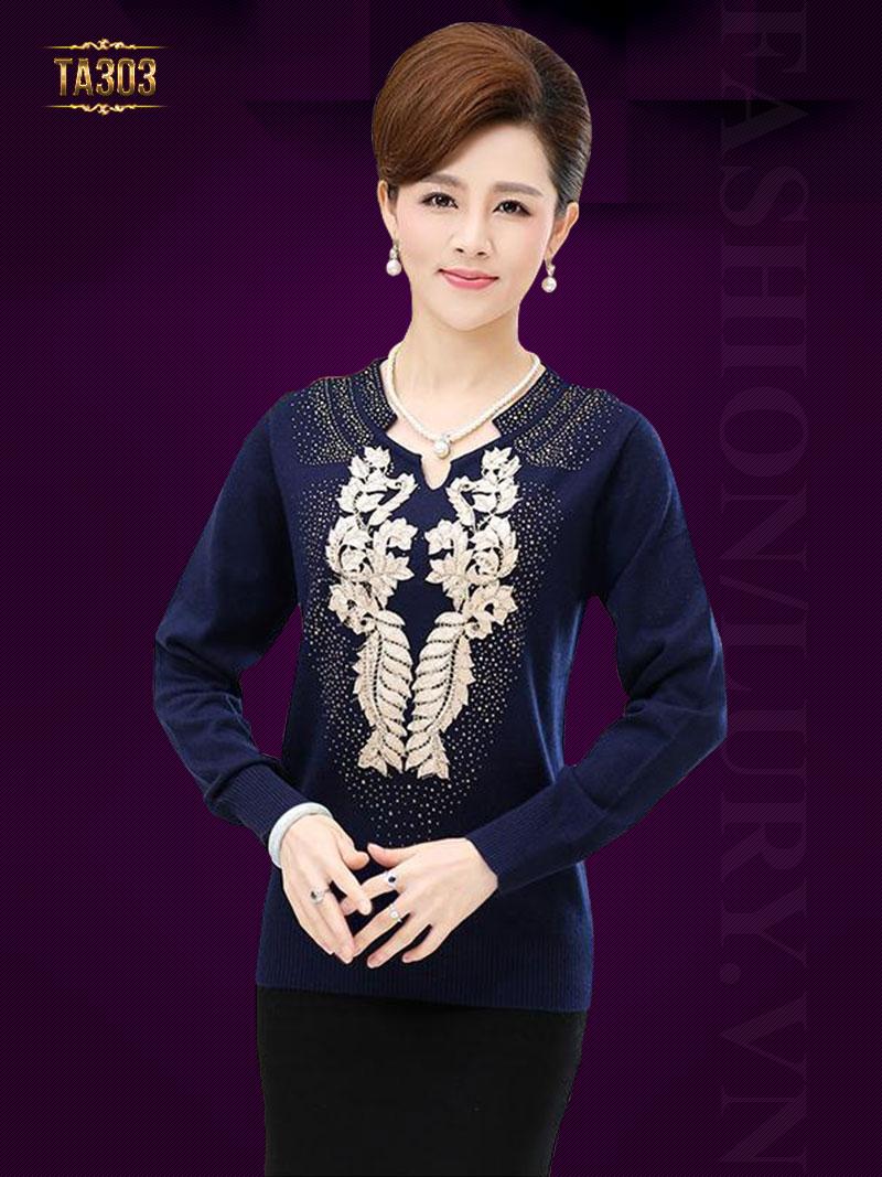 Áo len trung niên Hàn Quốc cao cấp TA303