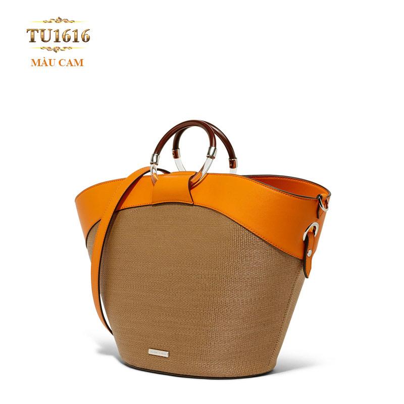 Túi xách Charles & Keith cao cấp phối màu thời trang TU1616 (Màu cam)