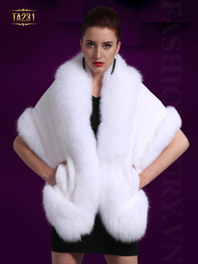 Khăn lông chồn cao cấp TA231 (Trắng)